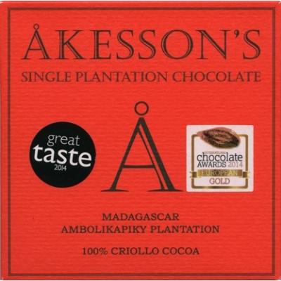 akesson's madagascar 100% étcsokoládé criollo