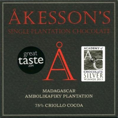 akesson's madagascar 75% criollo étcsokoládé