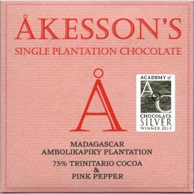 akesson's madagascar 75% rózsabors étcsokoládé