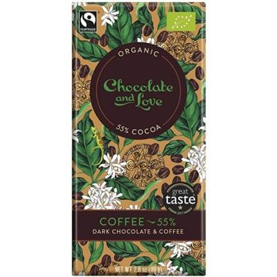 Chocolate & Love kávés étcsokoládé