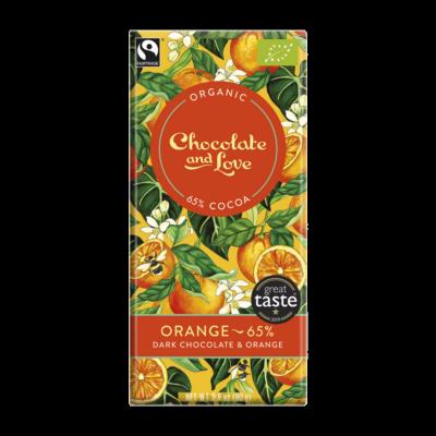 Chocolate & Love narancs étcsokoládé