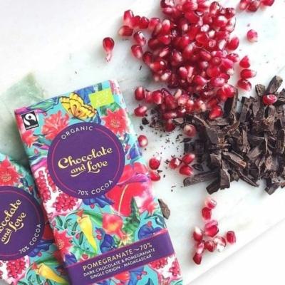 Chocolate & Love gránátalma étcsokoládé