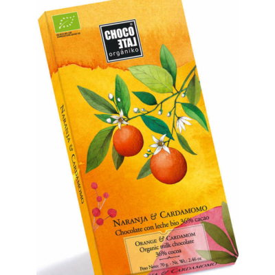 Chocolate Orgániko narancs kardamom tejcsokoládé