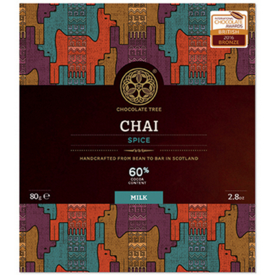CHOCOLATE TREE Chai Spice dark milk 60%