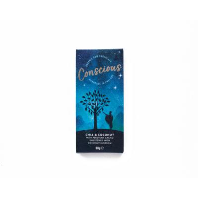 conscious chia kókusz étcsokoládé