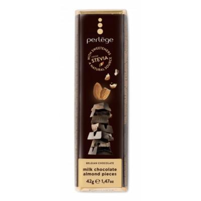 PERLEGE Sztíviás tejcsokoládés pirított mandulás szelet