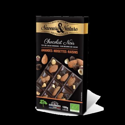 Saveurs&Nature étcsokoládé mandula mogyoró mazsola