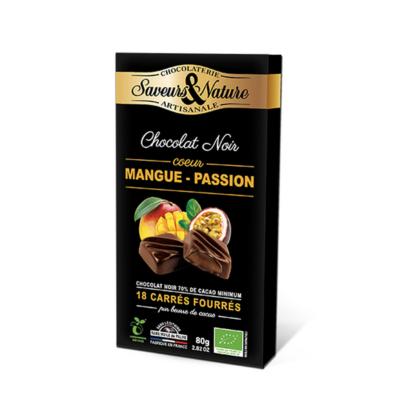 Saveurs&Nature Mangós-maracujás étcsokoládés bonbon