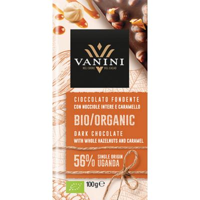 Vanini Uganda mogyoró karamell étcsokoládé