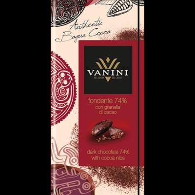 Vanini 74% nibs kakaóbab darabkák